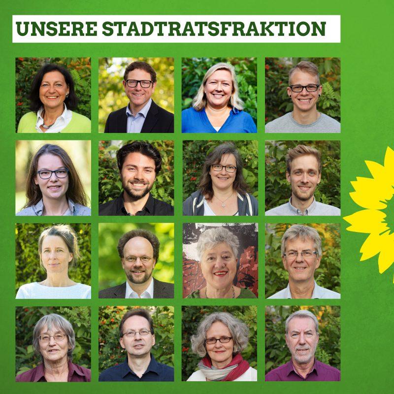 Collage: Grüne Fraktion Würzburg 2020-2026