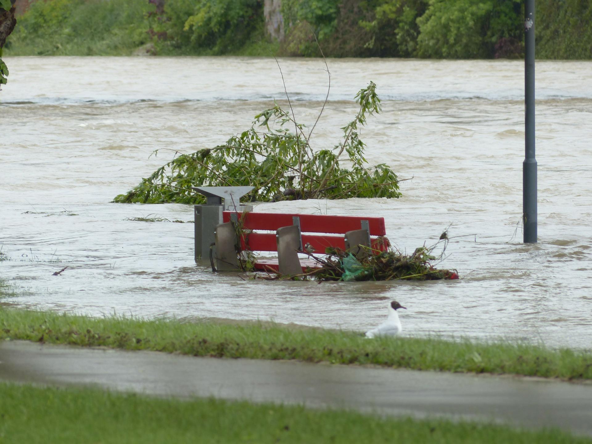 Überflutung durch Starkregen