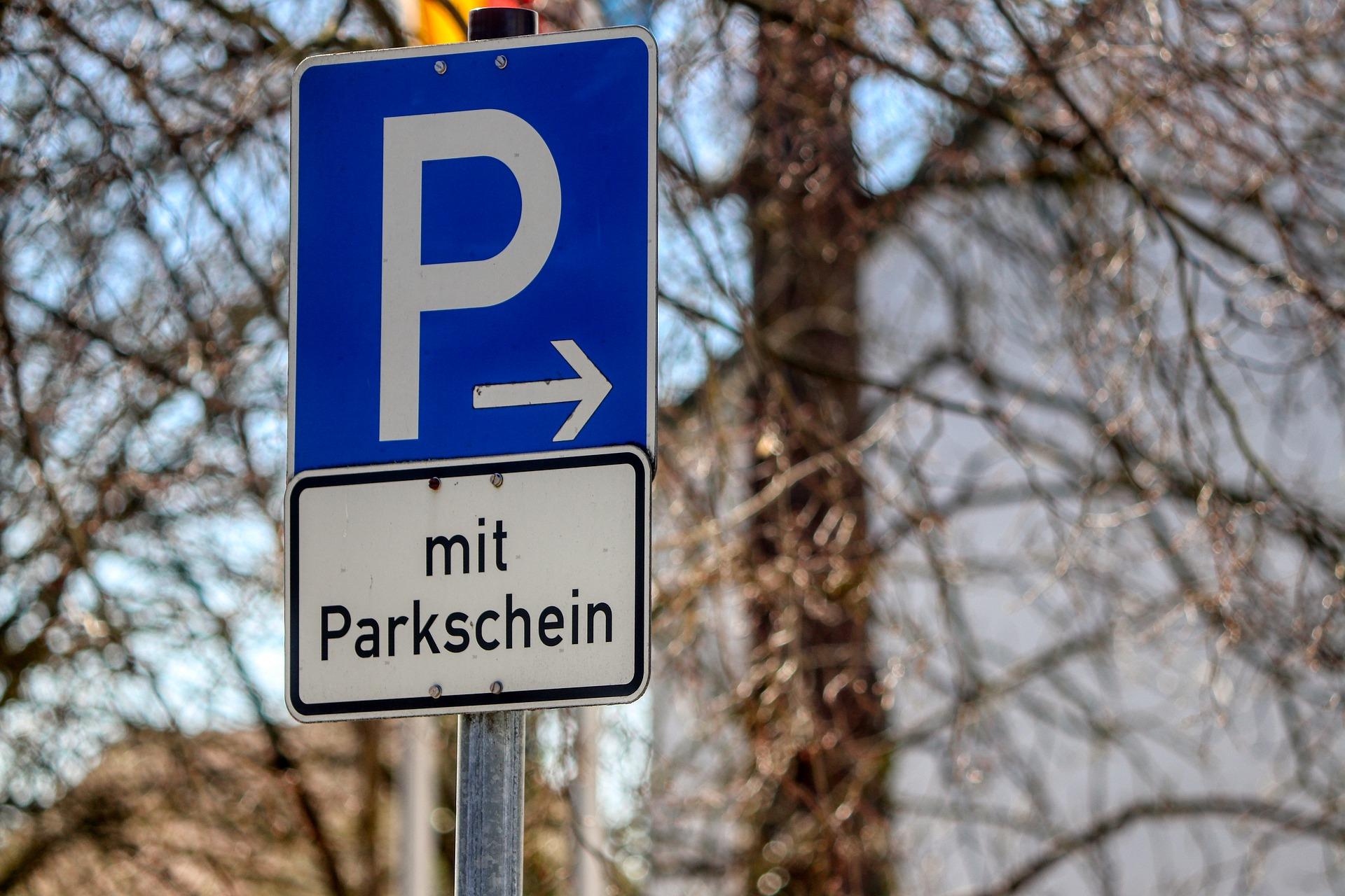 Parken mit Parkschein
