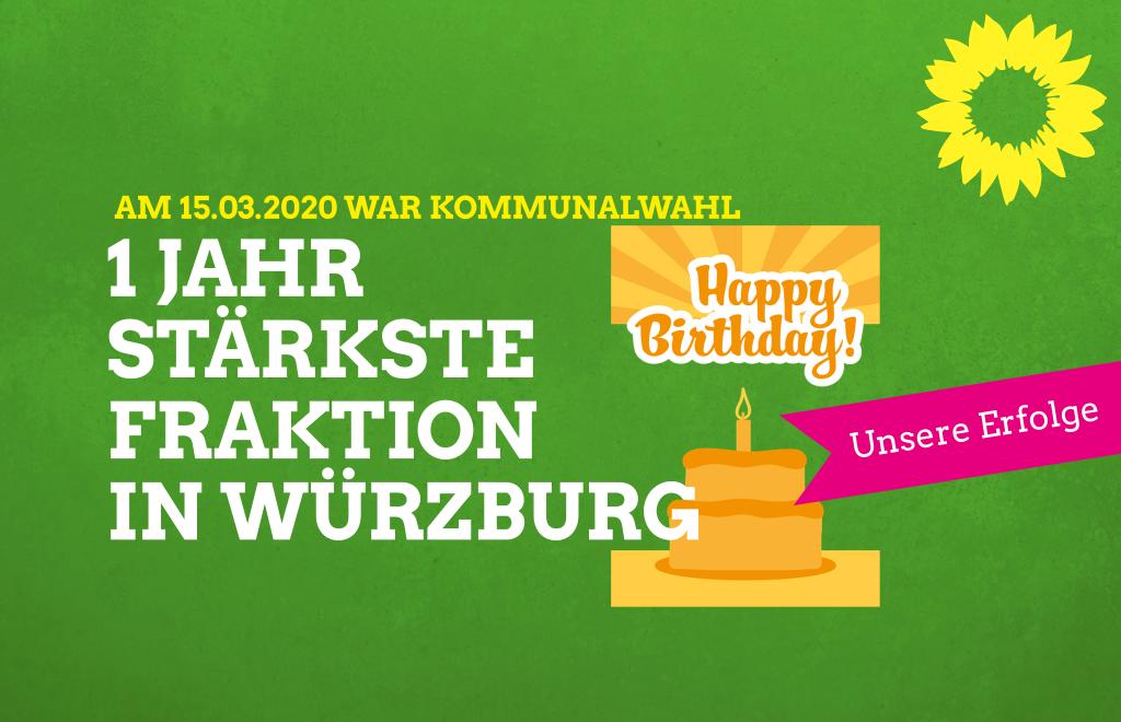 Ein Jahr stärkste Fraktion in Würzburg