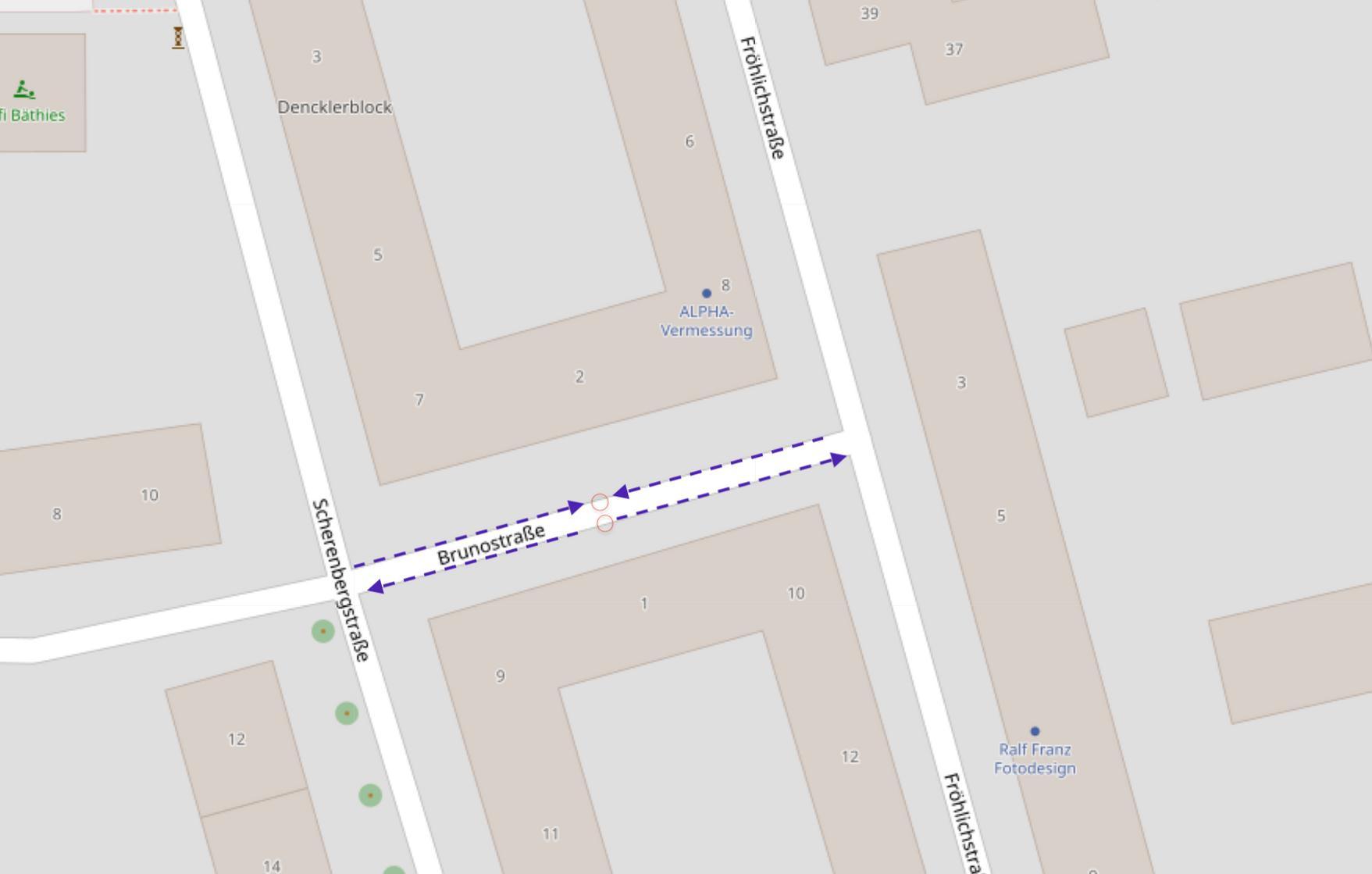 ERFOLGREICH: Teilweise Schließung der Brunostraße für Durchgangsverkehr
