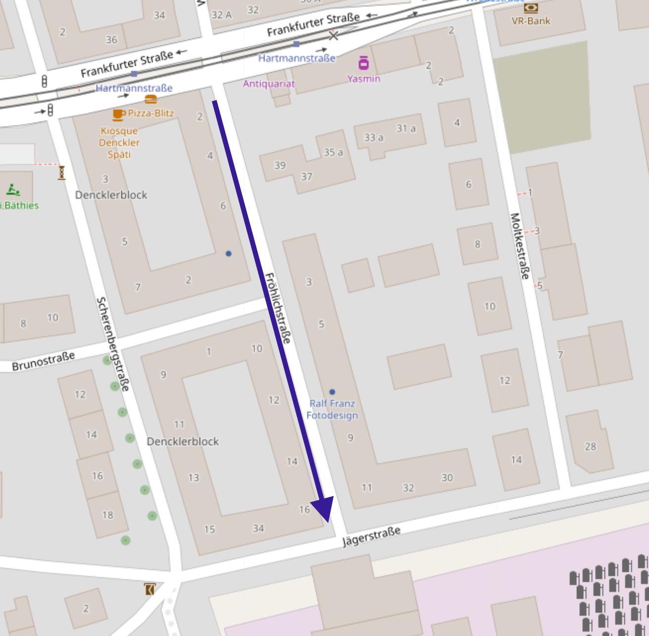 ERFOLGREICH: Schließung der Fröhlichstraße für Durchgangsverkehr