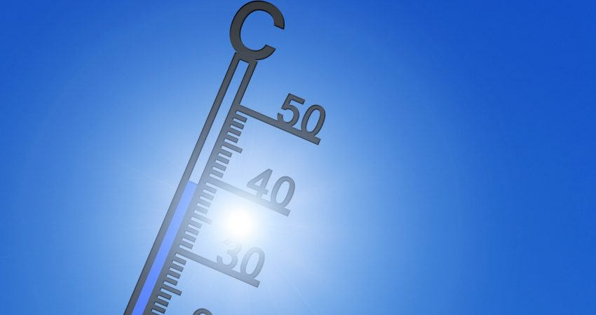 Thermometer geht auf 40° C zu!