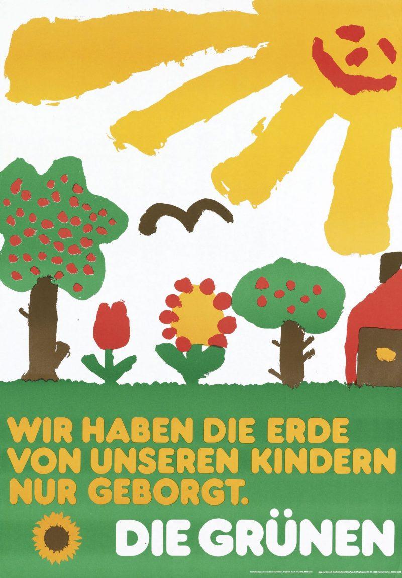 Plakat Wir haben die Erde von unseren Kindern nur geborgt